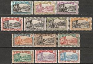 Cameroun 1925 Sc J1-13 Yt T1-13 postage due set MH* some disturbed gum/toning