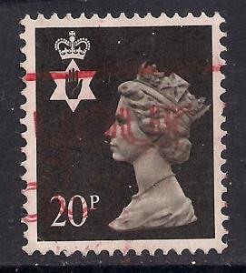 Northern Ireland GB 1989 QE2 20p Black Machin SG NI 51 ( A341 )