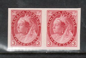 Canada #78P Extra Fine Plate Proof Pair On Card