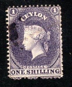 Ceylon #43, F/VF, Used, CV $95.00 ....  1290027