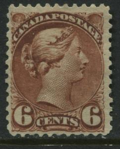 Canada QV 1888 6 cents red brown Small Queen mint o.g.