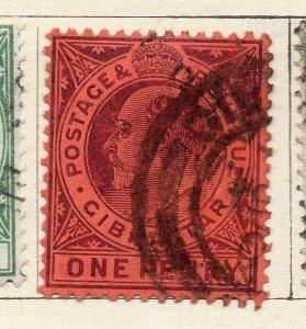 Gibraltar 1903 Early Issue Fine Used 1d. NW-114707
