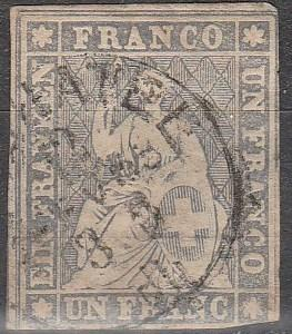 Switzerland #30 Fine Used CV $1000.00 (D1814)