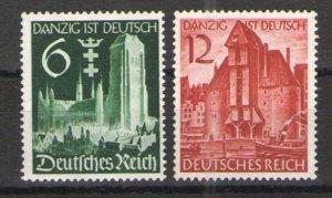 Germany - Third Reich 1939 Sc# 492-493 MNH VG/F - Danzig unification set