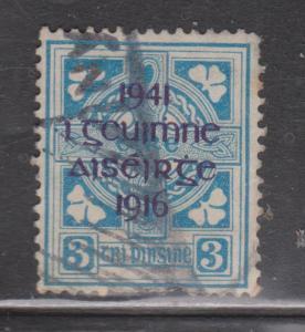 IRELAND Scott # 119 - Used - 1941 Overprint - Short Perfs At Bottom - CV $20
