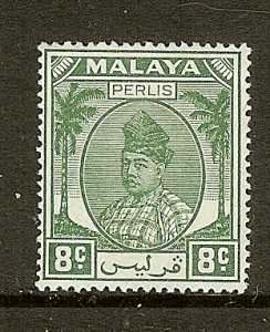 Malaya - Perlis, Scott #23, 8c Raja Syed Putra, MH
