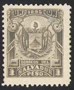 El Salvador Sc# 128 MH 1895 1p gray black Coat of Arms