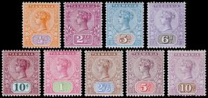 Tasmania Scott 76-84 (1892-99) Mint NH/LH VF, CV $382.00 M