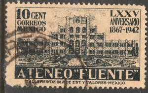 MEXICO 780, 10c Ateneo Fuente, 75th Anniv. Used. VF. (744)
