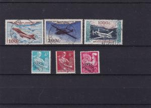 france 1953 air stamps ref r14070