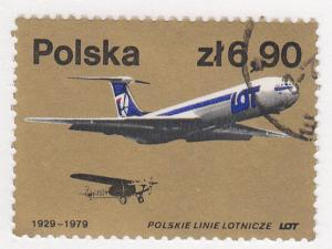 Poland, Sc # 2313 (3), CTO-NH, 1979, LOT Planes