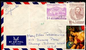 Paraguay to Chicago,IL Airmail Cover