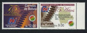 Bolivia 75th Anniversary of Chamber of Commerce 2v Pair SG#1757-1758