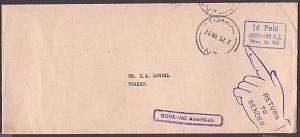 NEW ZEALAND 1952 cover to Tuakau : GONE NO ADDRESS