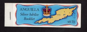 Anguilla   #271-274a  MNH 1977 reign Elizabeth 25 years .salvage right