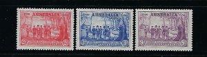 AUSTRALIA SCOTT #163-165 1937 150 ANNIVESARY NEW SOTH WALES- MINT XXLIGHT HINGED