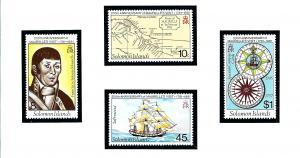 Solomon Is 439-42 MNH 1981 200th anniversary of Maurelles Visit