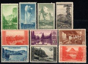 US #740-9 MNH CV $15.95 (X1462)