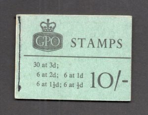 10/- BOOKLET NO DATE SG X1 Cat £150