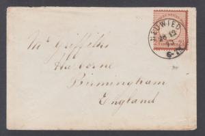 Germany Sc 19 on 1873 Cover Neuwied to Birmingham, crisp cancel