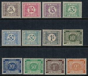Belgian Congo #J1-12*  CV $3.95