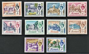 STAMP STATION PERTH  Bermuda #175-185 QEII Short Set- MH - CV$18.00