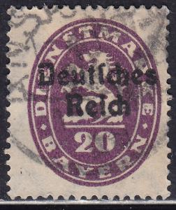 Bavaria O55 Coat of Arms O/P 1920