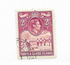 Turks & Caicos #87 Used CAT VALUE $17.00