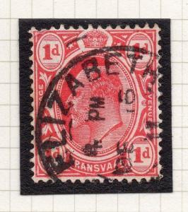 Transvaal Interprovincial Period Ed VII Postmark Port Elizabeth on 1d. 243765