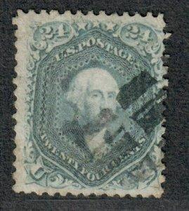 US Sc#78b Used/F, Grey No Faults, Cv. $425