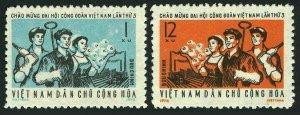 Viet Nam 657-658,MNH.Michel 689-690. 3rd National Trade Unions Congress.1972.