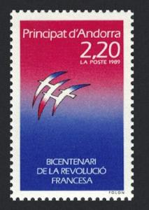 Andorra Fr. Birds Painting by Folon Bicentenary of French Revolution SG#F416