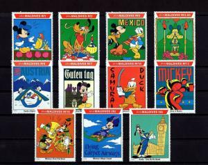 MALDIVES - 1992 - DISNEY - MICKEY - DONALD - GOOFY - WORLD TOUR - MINT MNH SET!