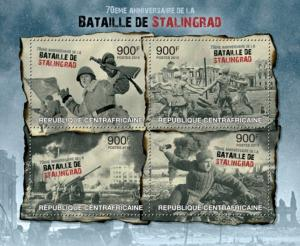 CENTRAFRICAINE 2013 SHEET BATTLE OF STALINGRAD WORLD WAR WWII
