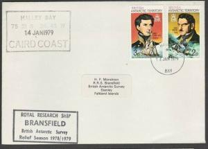 BR ANTARCTIC TERR 1978 cover Halley Bay cds RRS Bransfield cachet..........57106