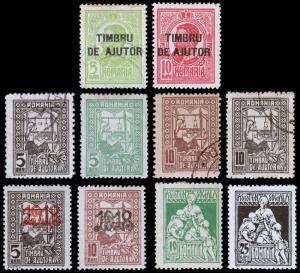 Romania Scott RA1-2, RA3-6, RA7-8, RA13-14 (1915-24) Mint/Used H F-VF
