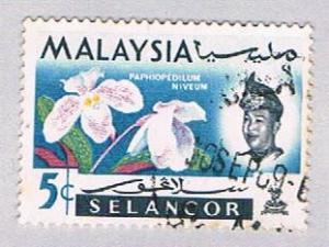 Malaysia Selangor 123 Used Flowers (BP25212)