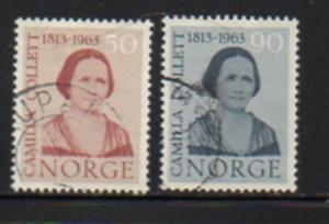 Norway Sc  431-2 1963 Collett stamp set used
