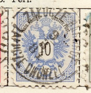 Austria 1883 Early Issue Fine Used 10kr. NW-11544