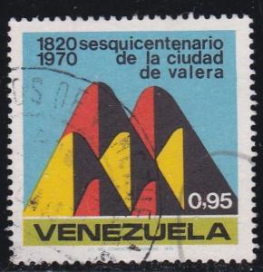 Venezuela #  963, Seven Hills of Valera, Used, 1/2 Cat.