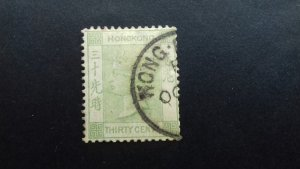 Hong Kong 1891 Queen Victoria 30 cents Used