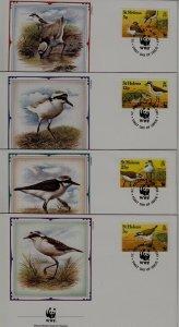 St.Helena 593-98 FDC WWF-93/Birds