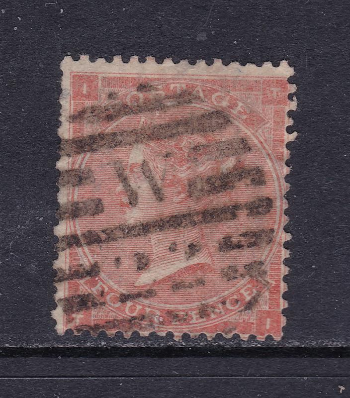 Great Britain a QV 4d used from the 1862 series