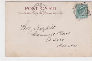 great britain 1902 M. ARCH + somersham cancels stamps card ref 21355