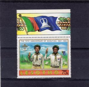Lesotho 1982 SCOUTING 1 Single value Perforated Mint (NH)