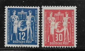 DDR MNH 49 / 50 Postal Workers Trade Union