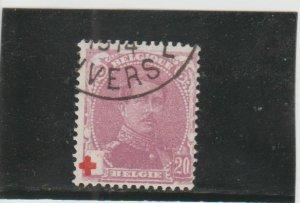Belgium  Scott#  B27  Used  (1914 King Albert I)