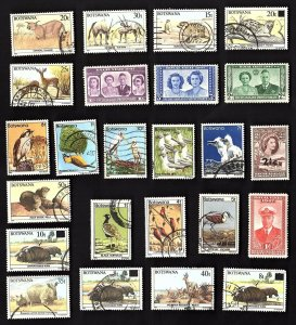 24 All Different  BOTSWANA  STAMPS