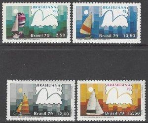 Brazil 1608-11 MNH UPU Braziliana 1979  Sailing