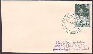 AUSTRALIAN ANTARCTIC 1963 cover - 1/- with WILKES cds......................35289